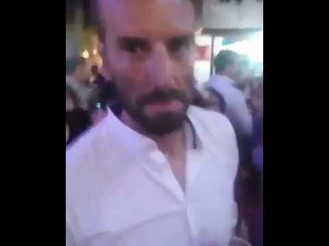 Joven insultando a Alvaro Ojeda en la feria de Jerez