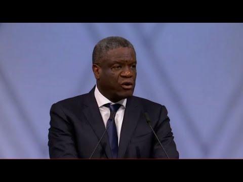 REPLAY - Le discours du Dr. Denis Mukwege, prix nobel de la paix