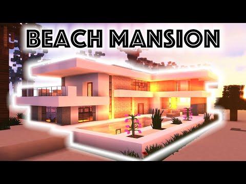 Minecraft Tutorial: Modern Beach Mansion #2!!! [4K UHD]