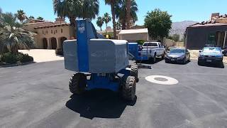 Transporting A Boom Lift In A Tight Country Club