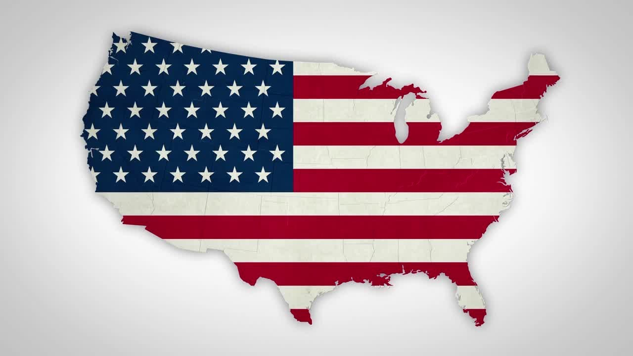 6e45261430d1 USA Flag States Combine Motion Graphics. Motion Array