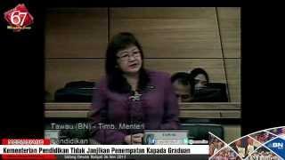 Kementerian Pendidikan Tidak Janjikan Penempatan Kepada Graduan -- Mary Yap