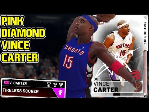 PINK DIAMOND VINCE CARTER 61PT GAMEPLAY! THEY MADE HIM PERFECT! NBA 2k19 MyTEAM