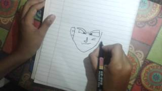 How to draw goku super sen step by step tutorial