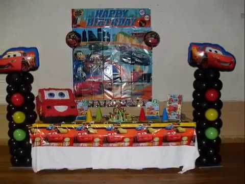 PARTY 30 First Birthday Party Cars Theme Balloon Decorations