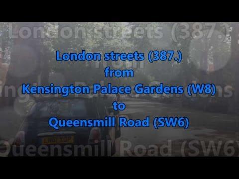 London streets (387.) - Kensington Palace Garden (W8) - Queensmill Road (SW6)