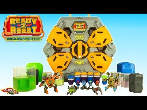 Nouveau Ready 2 Robot Méga Pack de Combat avec Slime Robots Splash Toys Big Slime Battle Noel 2018