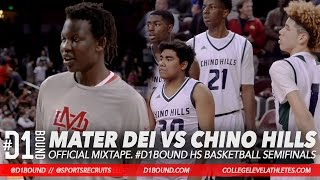 chino hills vs mater dei los angeles hs basketball playoffs lamelo ball vs bol bol d1bound mix