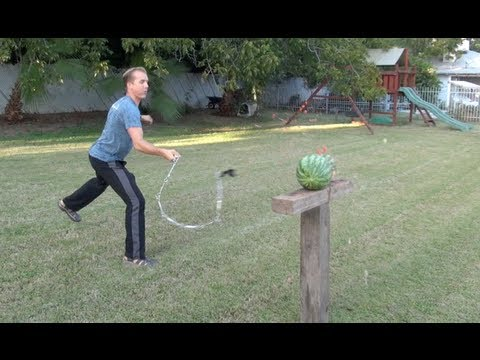 Watermelon vs Kung Fu ..... Chainwhip