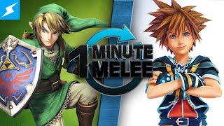 One Minute Melee - Link Vs Sora (Zelda vs Kingdom Hearts) 60fps