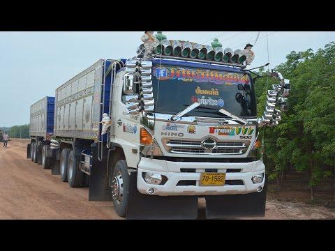 รถบรรทุกพ่วงสิบล้อดั้มหินคลุก รถพ่วงสวยๆ เลย ทีมงานจัยเต็มร้อย #สายแข็งบุรีรัมย์  Dump Truck