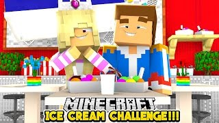 ICE CREAM CHALLENGE || ROBLOX OBBY w/ LITTLE DONNY- Baby Leah Minecraft Roleplay!