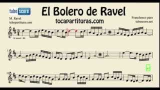 Ravel´s Bolero Sheet Music for Trumpet, Tenor Saxophone, Soprano Sax, Clarinet