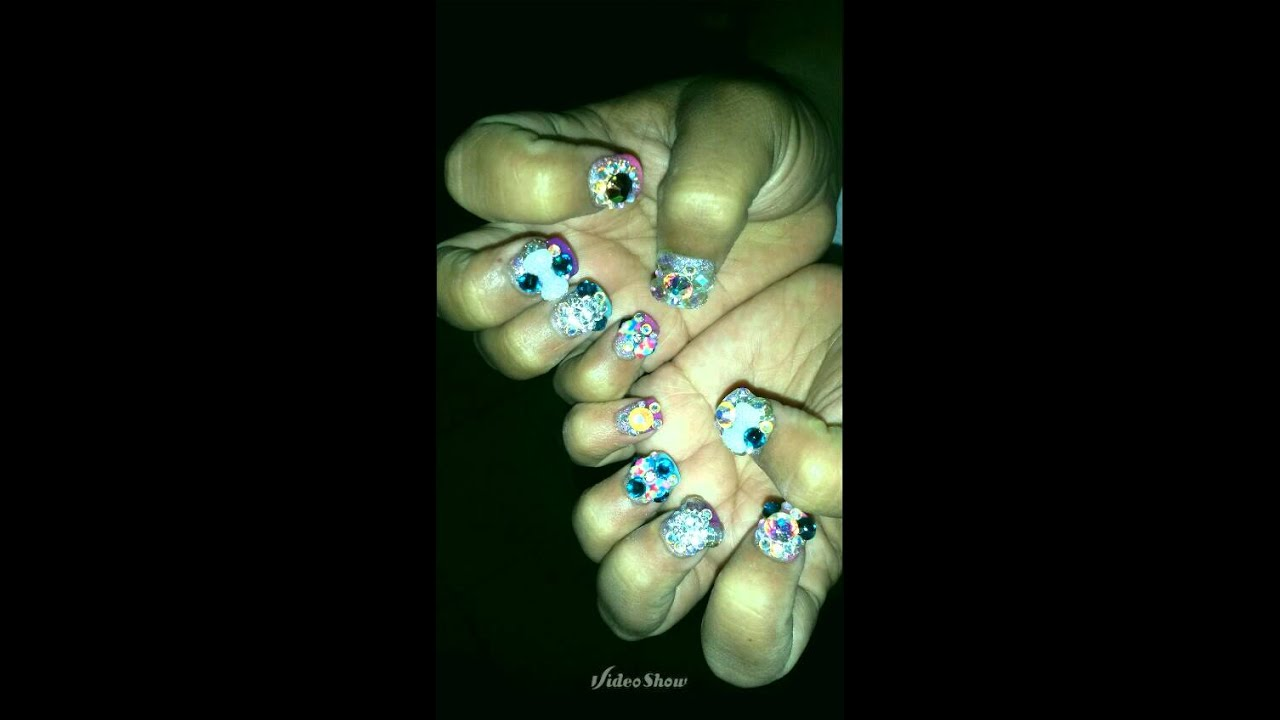 Uñas arco iris nails - YouTube