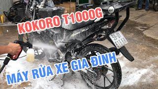 Máy rửa xe mini KOKORO T1000G - Dòng máy rửa xe gia đình tốt nhất hiện nay