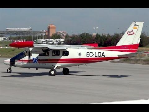 Despegue Vulcanair P68 Observer 2 (EC-LOA) - Aerop. Sabadell