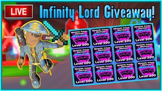 Ninja Legends Pet Giveaway! | Infinity Lord Pet Giveaway LIVE (2/21)