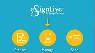 How to e-sign your Conga Composer documents using eSignLive