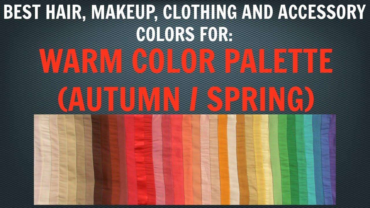 Warm Autumn Amp Warm Spring Color Palette Best Hair