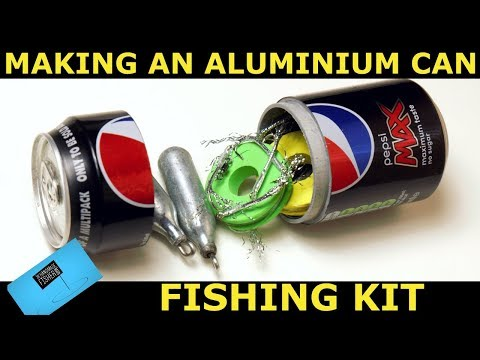 Making a soda can fishing kit