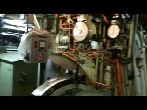 Great Lakes freighter engine room