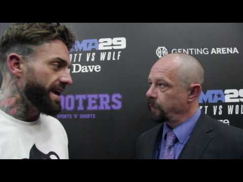 Post-Fight Interview with Aaron Chalmers at BAMMA 29