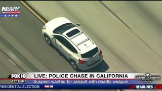BIZARRE ENDING: Armed Road Rage Suspect Leads Police on Chase Through Los Angeles County (FNN)
