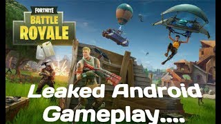 Fortnite Battle Royale Leaked Android Gameplay On ONEPLUS 6 ... FULL GAMEPLAY IN HD....#1 GAME.