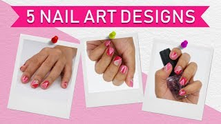 5 Nail Art Designs Using A Striping Tape | Hauterfly