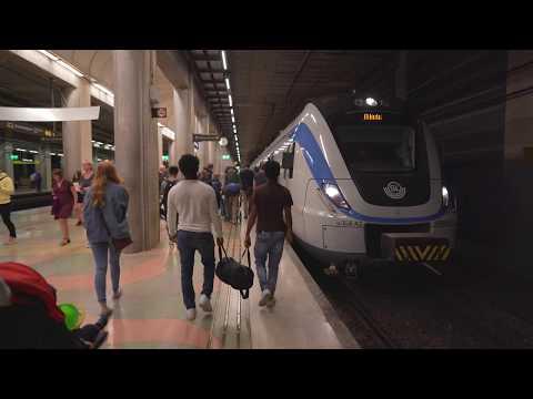 Sweden, train ride from Södra Station to Stockholm Odenplan