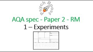 Experiments - Research Methods (7.01) Psychology AQA paper 2
