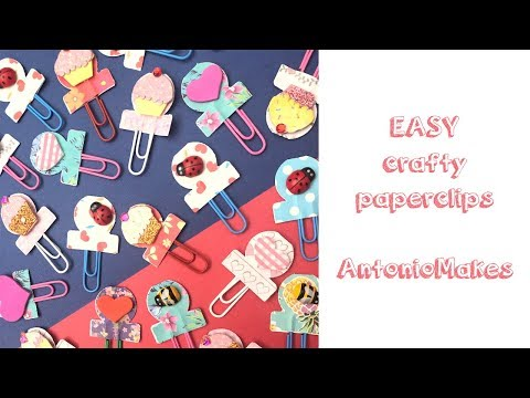 Paper clips embellishment craft tutorial| AntonioMakes