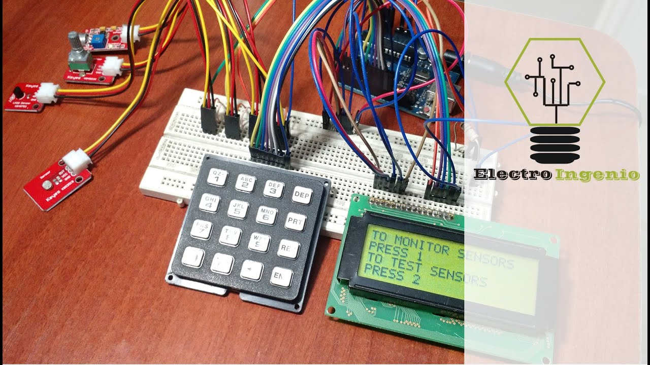 Arduino projects tree menu4x4 keypad  YouTube