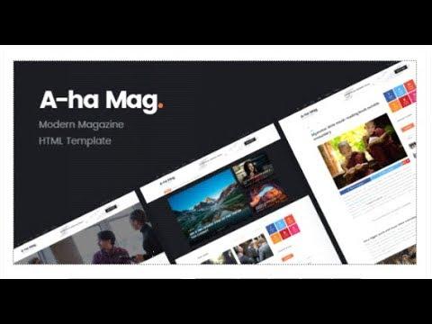 AhaMag | Modern Magazine HTML Template | Themeforest Templates