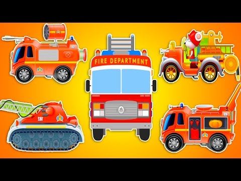 Пожарная машина все серии подряд. 30 МИНУТ. Пожарная мышка приехала тушить большой пожар