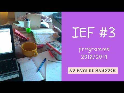 IEF : notre programme 2018/2019