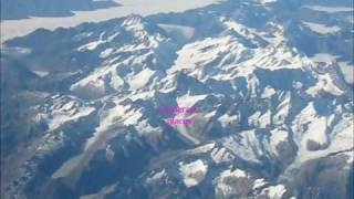 ALPS, DIE ALPEN, LES ALPES, LE ALPI - FLIGHT OVER ALPINE PEAKS SWITZERLAND ITALY FRANCE