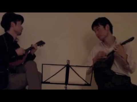 J.S.Bach Badinerie (mandolin duo)  【バディネリ/バッハ(デュオ)】