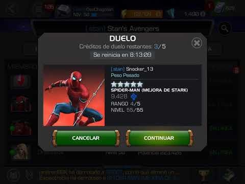 Venom vs Spiderman Sparky mejora de Stark  Marvel Contest of Champions