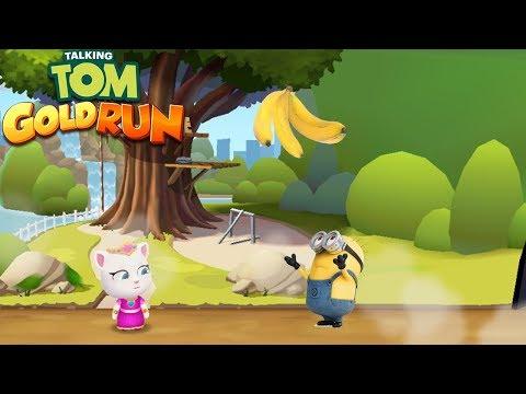 Talking Tom Gold Run vs Minion Rush - Angela vs Minion vs Banana