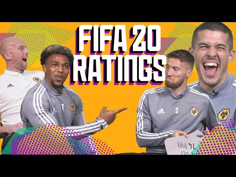 WOLVES REACT TO THEIR FIFA 20 RATINGS | Traore, Coady, Doherty & Ruddy guess their stats! 😂