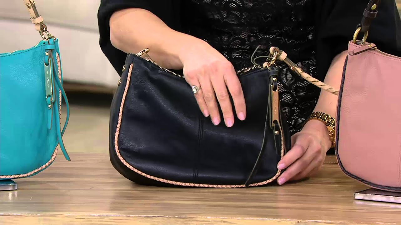 B Makowsky Lola Pebble Leather Zip Top Crossbody Bag On Qvc