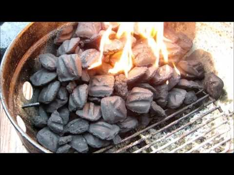 How to light Charcoal - Charcoal 101 #1 (using lighter fluid) -
