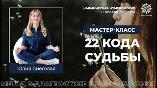 Мастер-класс Юлии Снеговой. Метод