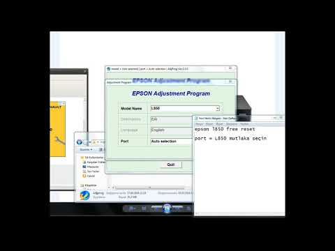 How To Reset Waste Ink Pad Counter For Epson L850