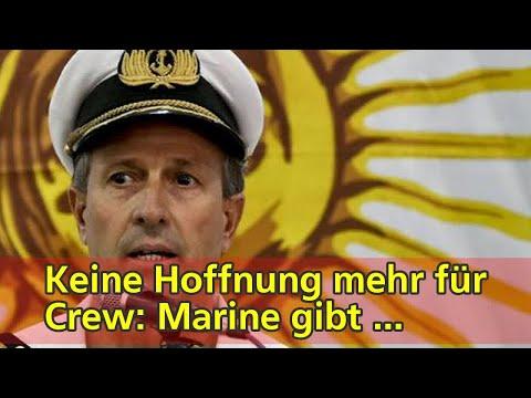 Keine Hoffnung mehr für Crew: Marine gibt U-Boot-Suche auf | tagesschau.de