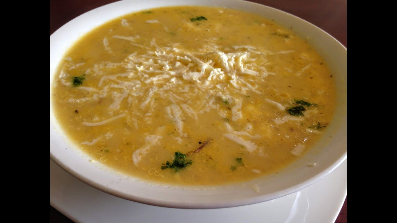 Sopa De Quinua Con Queso Youtube