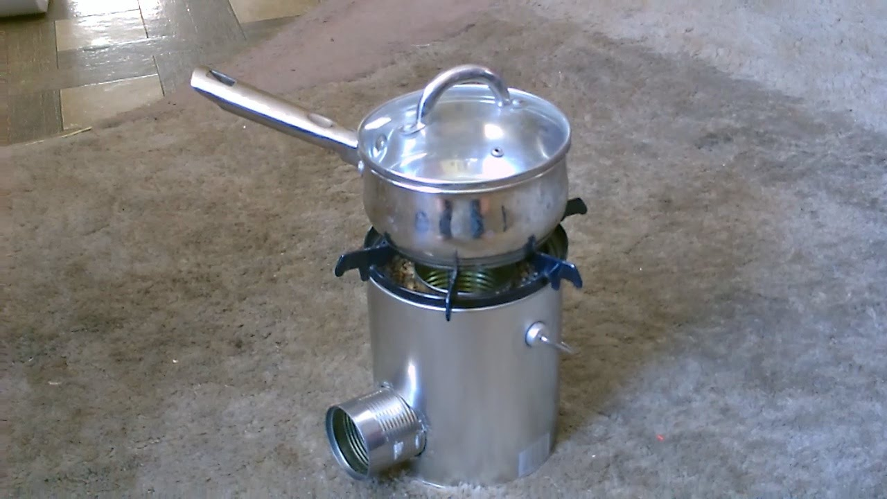 Tin can rocket stove simple diy cooks great quick for Jet stove diy