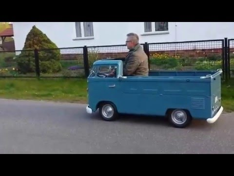 vw t1 pritsche 1 2 kinderauto mit benzinmotor 1 testfahrt youtube. Black Bedroom Furniture Sets. Home Design Ideas