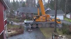 Puiden kaatoa Mikkelissä